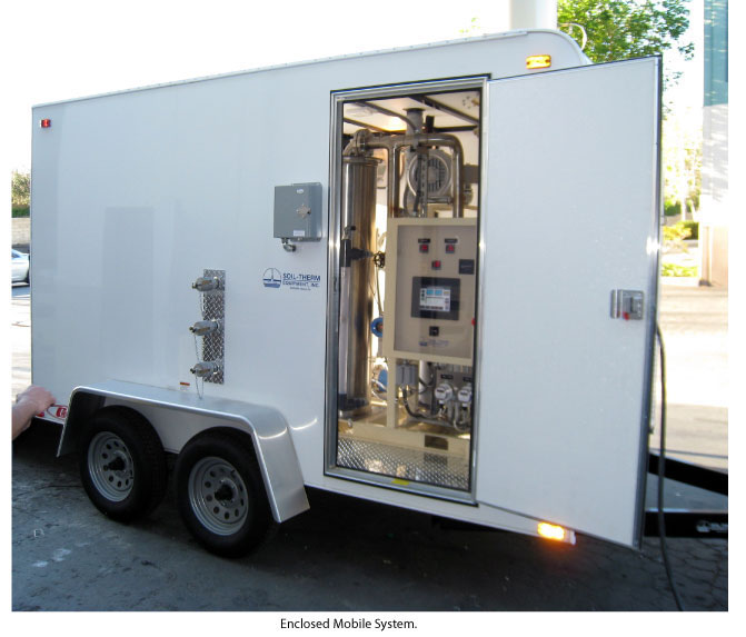 Electric System in an enclosed trailer