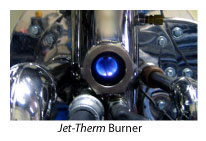 Jet-THERM burner flame
